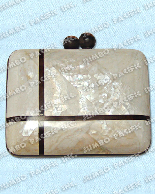 Fashion Clutch Bag made of inlayed shells