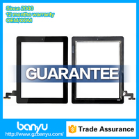 Fast shipping black color touch digitizer glass for ipad 2 touch screen
