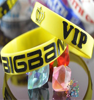 China wholesale cheap concert supportment custom kpop idol silicon bracelet