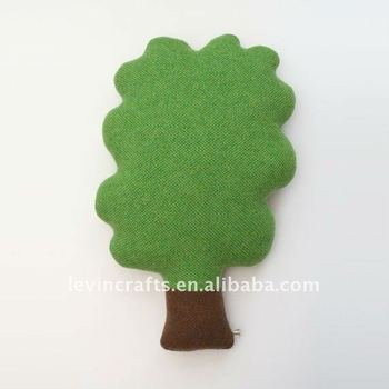 soft stufffed knitted tree cushion