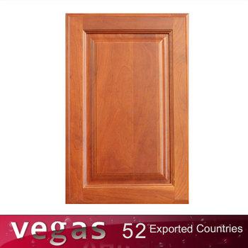 Modern Raised Natural Cherry Wood Panel Kitchen Door Design