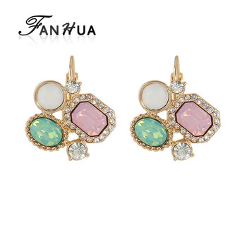 Free Shipping Colorful Rhinestone Hoop Earrings for Women