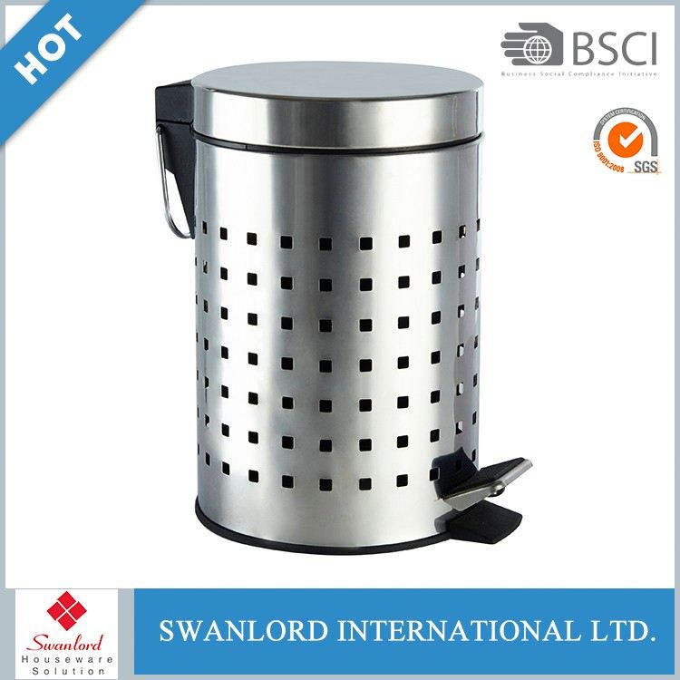 Fashionable Design Round Stainless steel Pedal Bin