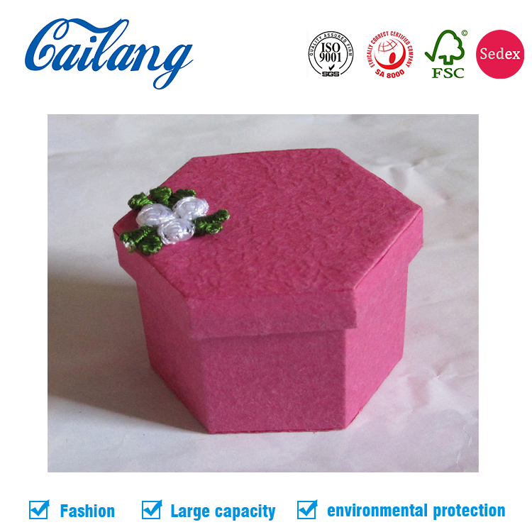 Small Gift Packaging Paper Box With Lid For Jewelry