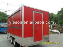 Made in china stainless ice cream kiosk food trailer cart for sale / espresso cart for sale YS-FV400B-1