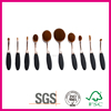 Customized logo printed cosmetic brush hot sale oval makeup brush