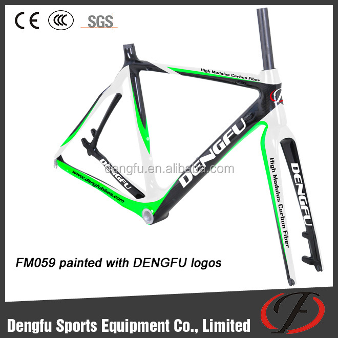 Dengfu Full CX Carbon Cyclo Cross Frames FM059 With Disc Brake Di2 compatible 48/50/52/54/56/58cm 1600g OEM Painting