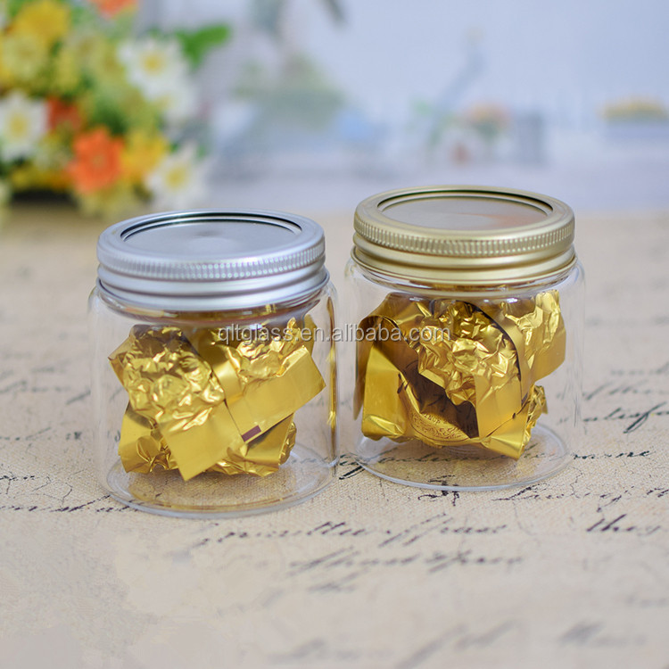 Eco-friendly high grade wide mouth borosilicate glass jar