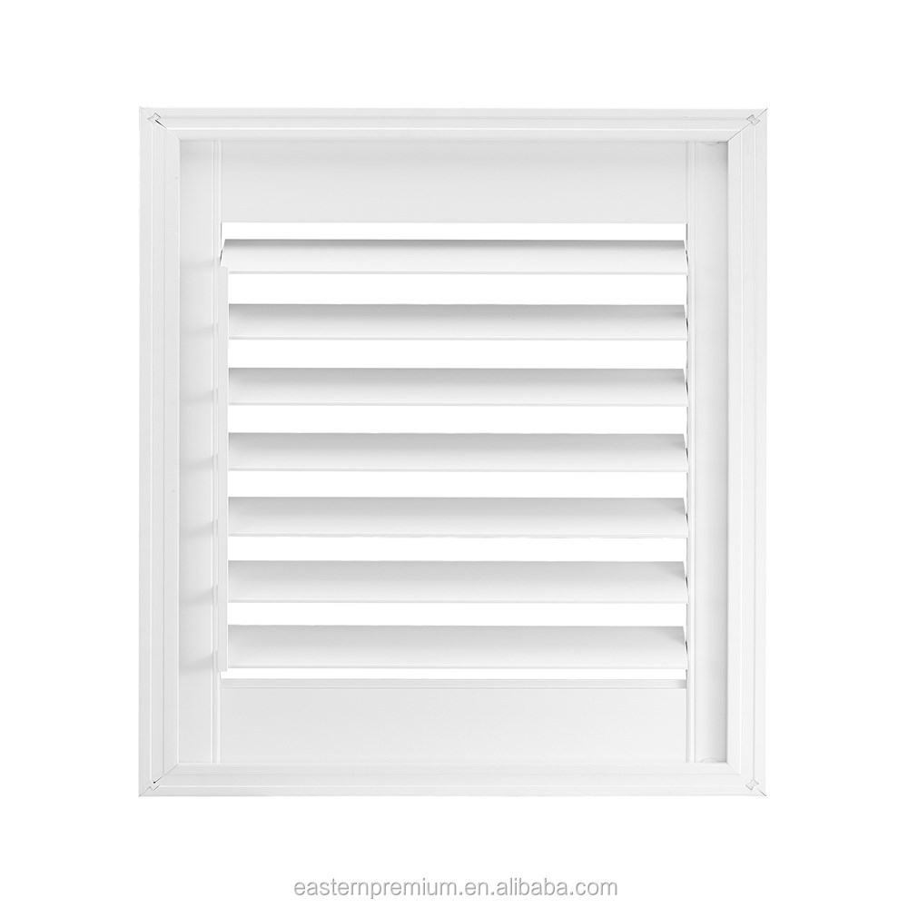 Hot selling 63/89/114mm PVC / Faux wood plantation shutter louvre for window with aluminum insert