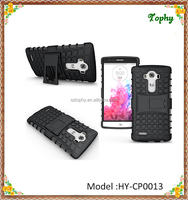 2015 Hot Product 2 in 1 Elements Tire Lines Hybrid Combo Holder Stand Back Cover Slim Case For LG G4