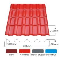 Green roofing materials Synthetic Resin Roofing Tile/ASA, PVC Synthetic Resin Roof Tile