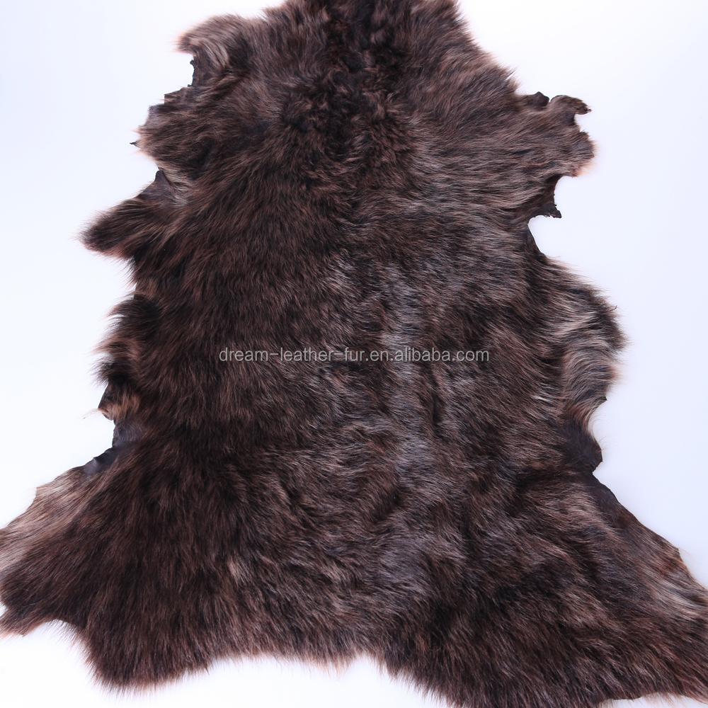long haired double face leather fur