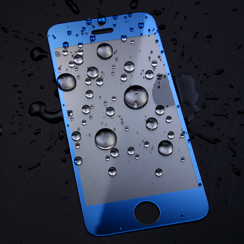 Electroplating Blue Mirror Effect Screen Protector for Iphone 6 Plus, 9H Glass Protector Screen Film on Sale