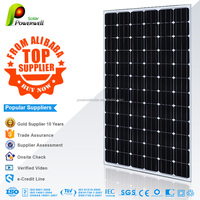 Powerwell Solar 200w 36v mono solar panel A grade high quality good price with CEC/IEC/TUV/ISO/INMETRO/CEC certifications