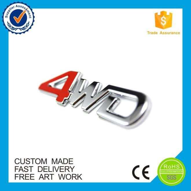 wholesale ABS car emblem chromed plate ,Custom plastic emblem logo for car