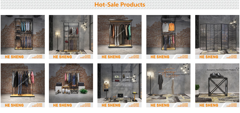 Display counter S. clothing store fixtures. industrial style HA01L09-S