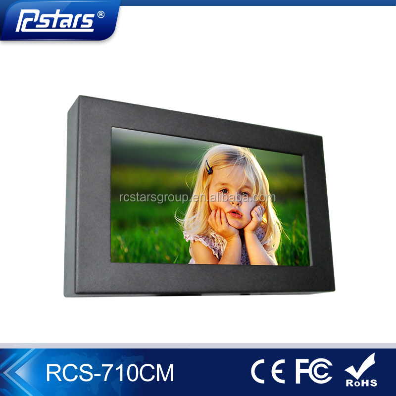 7Inch Small VGA/HDMI LCD Monitor, 1080HD LCD Monitor with Metal Case