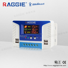 RAGGIE solar panel charger controller 20a 12/ 24v With USB Port
