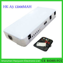 2016 great power high quality 12000mah double USB portable mini car power bank