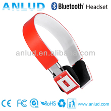 2013 Top selling ALD02 best quality stereo bluetooth headset with mp3