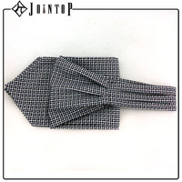 Custom Colored Mens Polyester white Cravat Ascot Tie