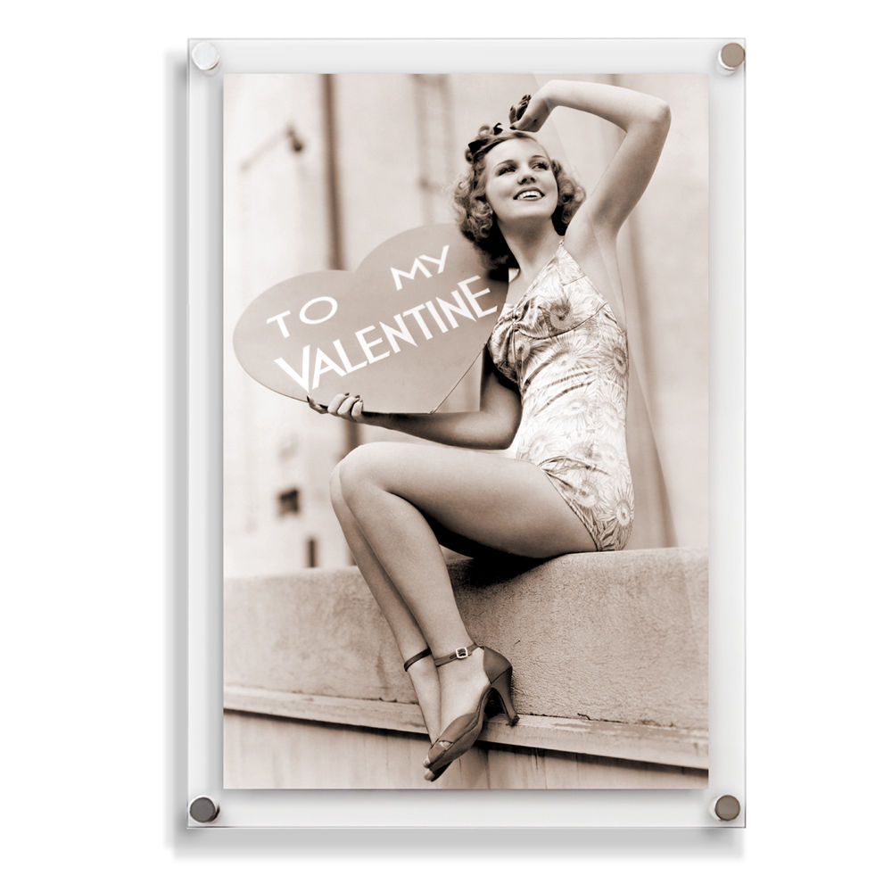 Hot sale wall mounted clear acrylic picture frame acrylic photo frame