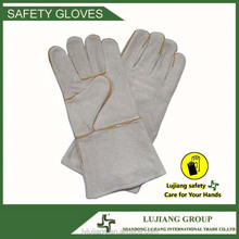 High quality cheap Industry gray split leather gloves