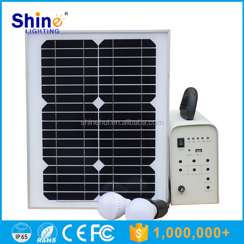 Home solar power system for home lighting with solar panel / battery / inverter / solar controller