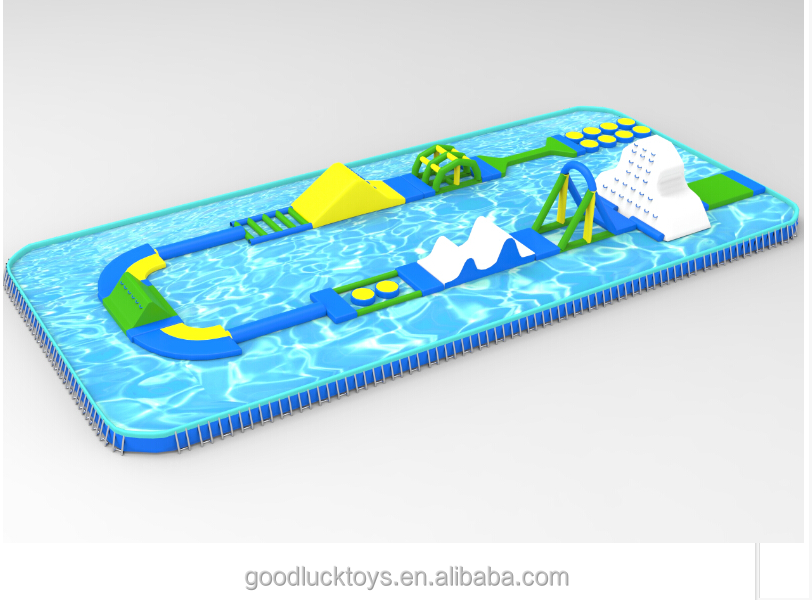 Water Inflatable Games For Open Water , Giant Inflatable Water Park