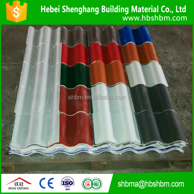 free asbestos pantile of mgo high strength middle density low price anti-corrosion insulating fireproof roofing sheet