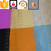 Alibaba suppliers 100% Polyester Luxury Brilliant Fabric Curtain Raw Material