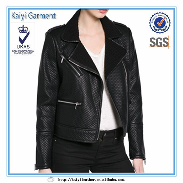 50% discount 2015 readymade apparel pu overstock leather garments