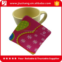 Custom eco-friendly nature rubber coaster, promotional new design rubber drink coaster, rubber place mat