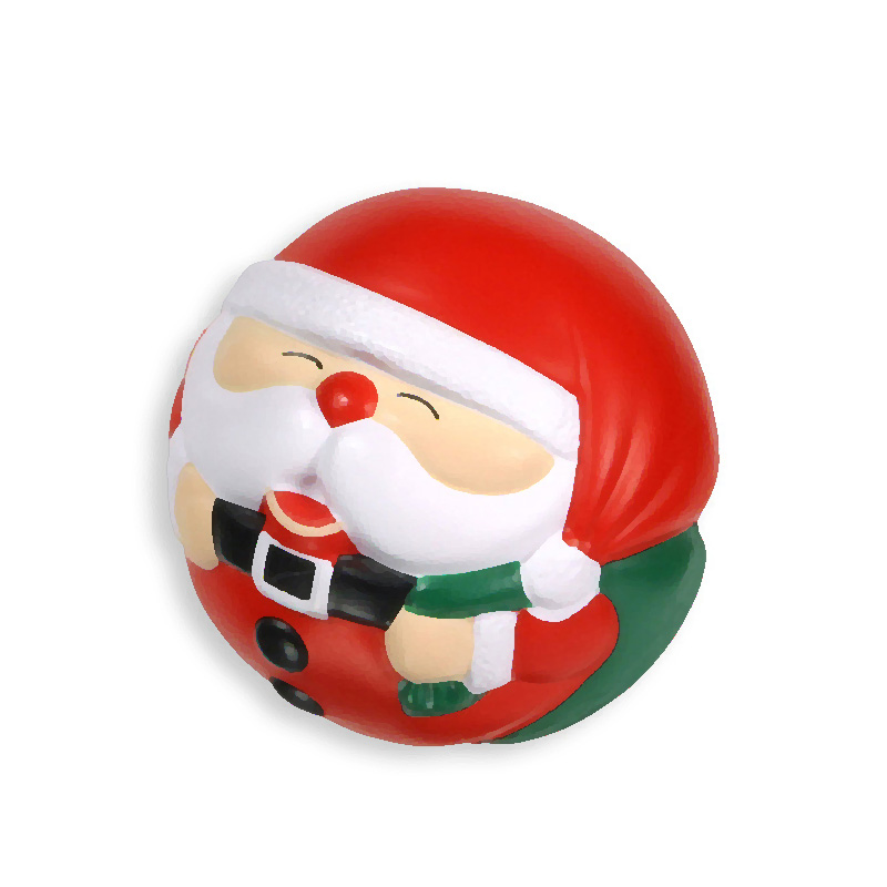 Polyurethane foam Santa Claus shaped stress ball for kids customize PU animal shaped stress ball stress reliver ball
