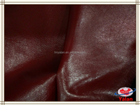 Popular high gloss red color patent synthetic pu leather