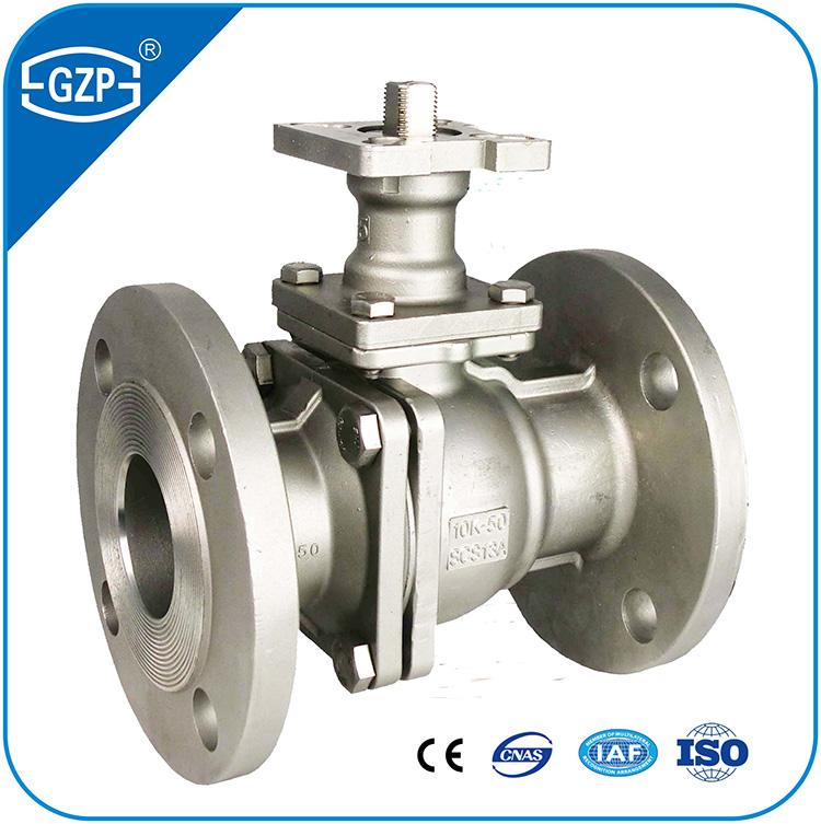 Full Reduced Bore Port JIS Standard 10K 20K 2 Pcs Pieces High Mounted Ball Valve With RF RJ TG RTJ Flange End