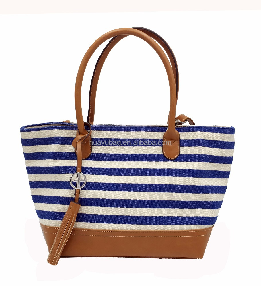 New arrival popular design canvas tote travel shopping shoulder handbags