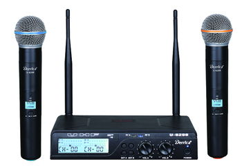 Professional UHF wireless microphone U-6298MM Karaoke System With DUAL Handheld Transmitter