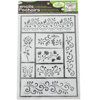 PVC Drawing Stencils Flower Shaped Christmas Stencils