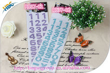 promotional gift colorful letter diamond/crystal type mirror phone car adhesive rhinestone sticker