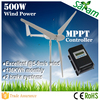 China manufactured 500W 12V 24V wind generators horizontal