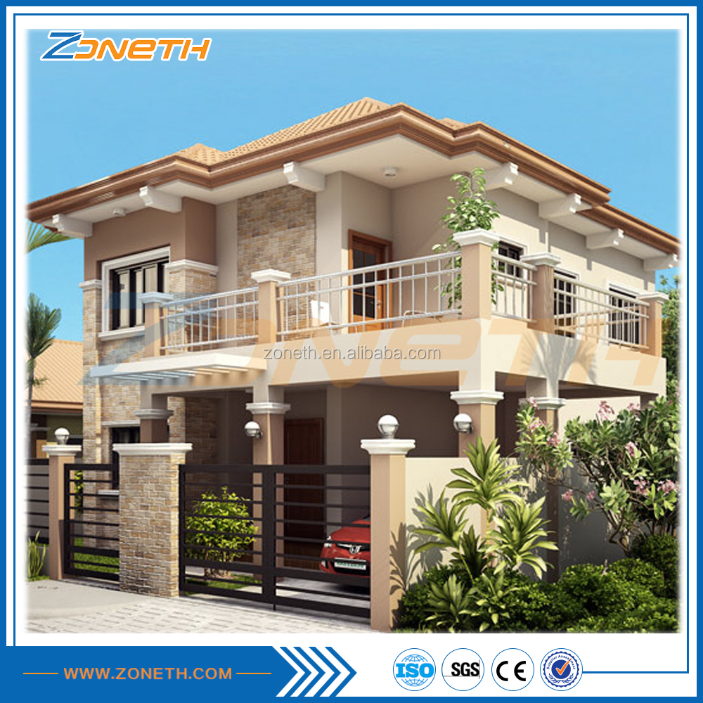 Fast flat roof Flexible Luxury eps house prefabricated