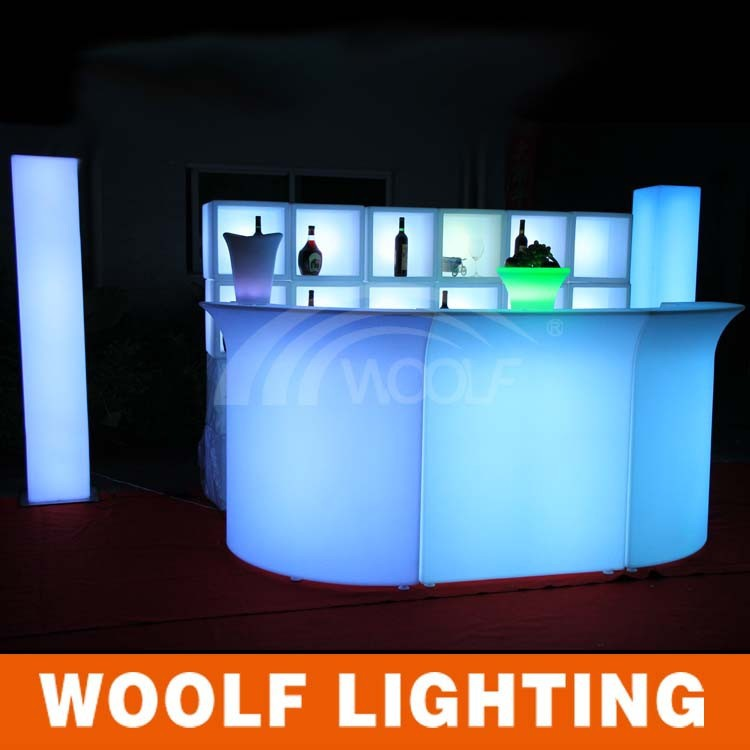 Hot LED table / 2015 newest led lighting modern bar counter