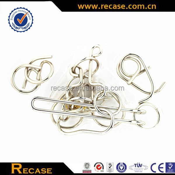 Metal parts for wire puzzles,metal traditional Chinese games