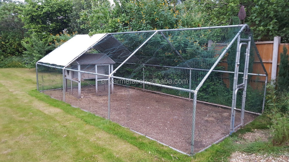 Large Metal Chicken Run Walk in Coop For Hen Poultry Rabbit Dog