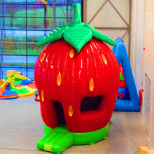 cheap indoor cute inflatable strawberry bounce castle inflatable house for kids