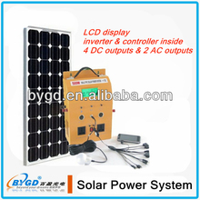 500W portable dc ac solar home lighting system