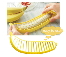 Qiyang Creative Banana Split Tool Slicer Banana Cutter for Fruit Salad