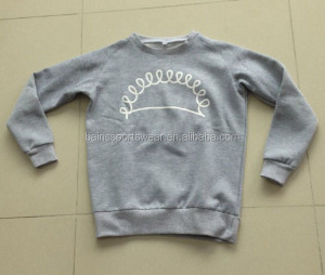Silk screen printing 100 cotton crew neck sweatshirt manufacturer