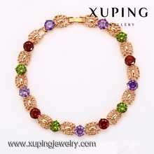 72960 Xuping original simple lovely rose gold bracelet, fashion colourful bracelet